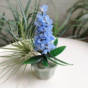 Vintage 80's Glass Flowers Home Decor Boho Accent